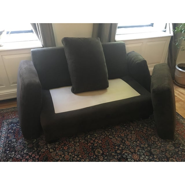 Crate & Barrel Brown Loveseat - Image 6 of 6