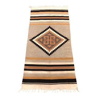 Vintage Hand Woven Native American Wool Rug - 2′4″ × 5′4″
