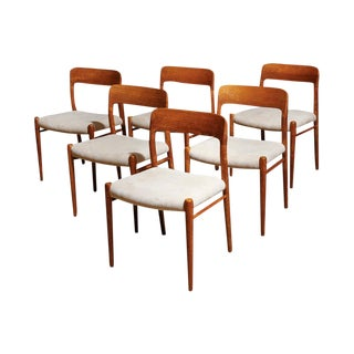 Niels Moller Cream Dining Chairs - Set of 6