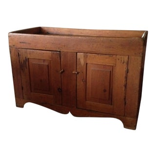 1800's Pine Dry Sink Storage Chest