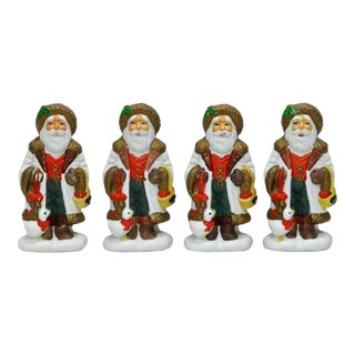 Old World Style Santa Claus Napkin Rings - Set of 4