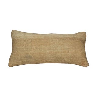 Decorative Neutral Woven Lumbar Pillow