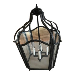 Dennis & Leen Iron and Glass Navarre Lantern Light Fixture