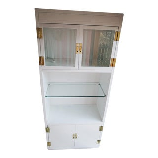 Henredon Scene One Display Cabinet Painted in White