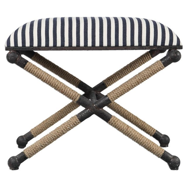 Image of Nautical Striped Bench