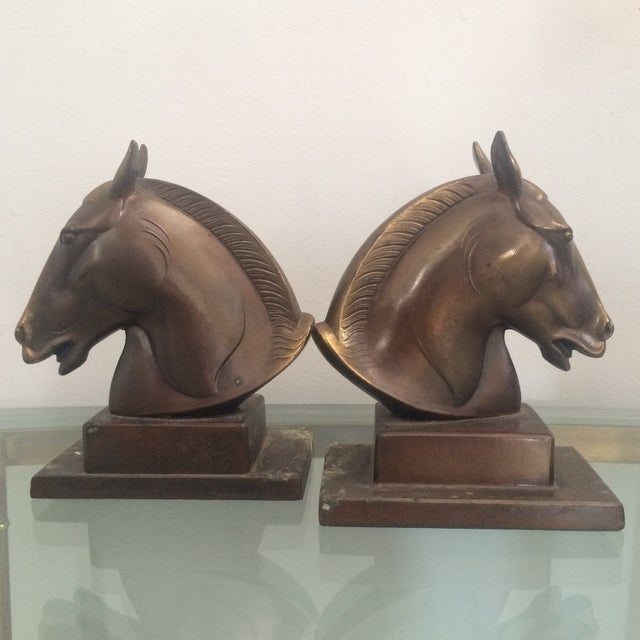 Image of Brazen Horse Bookends - A Pair