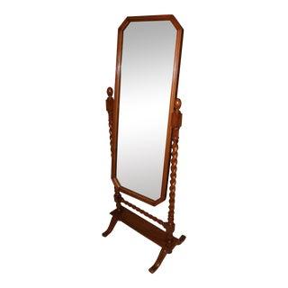 Indian Handcrafted Hardwood Standing Swivel Mirror