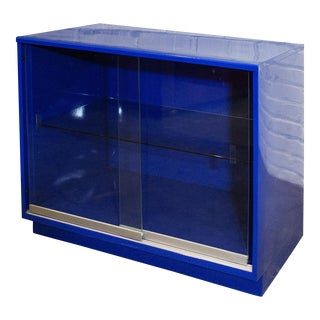 Electric Blue Steelcase Display/Bookcase, Circa 1965