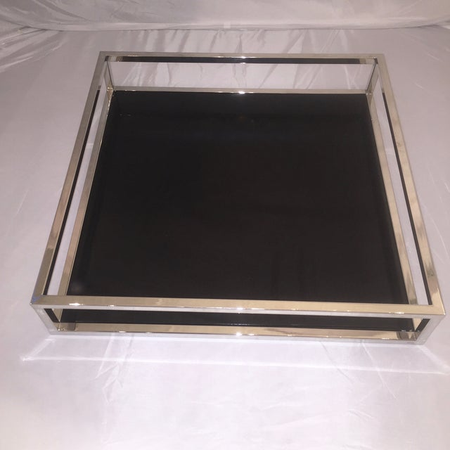 Mid-Century Chrome & Black Lacquered Tray - Image 2 of 6
