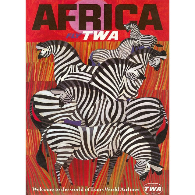 Image of Matted and Framed TWA Africa Travel Poster