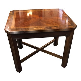 Burl Inset Accent Table