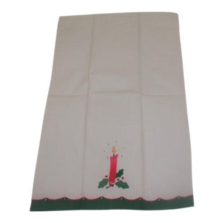 Appliqued & Embroidered Christmas Hand Towel