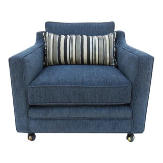 Mid-Century Charcoal Gray / Knoll Fabric Arm Chair