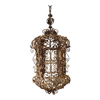 A Circa 1900 Wrought Iron Lantern from France
