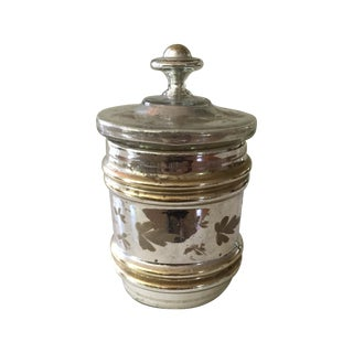 Antique Mercury Glass Covered Candy Dish