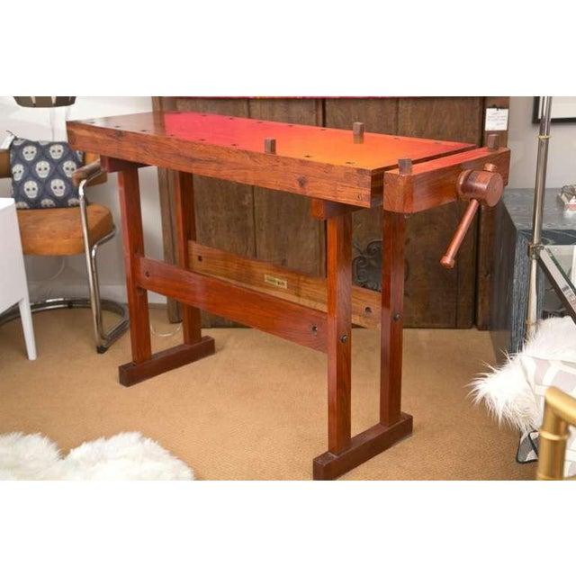 Rhodesian Teak Work Bench Chairish