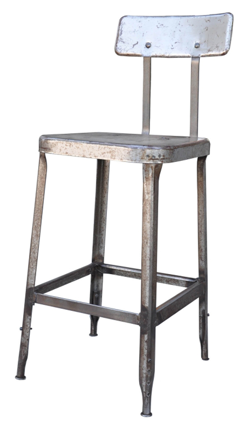 Vintage Amp Used Silver Bar Stools Chairish