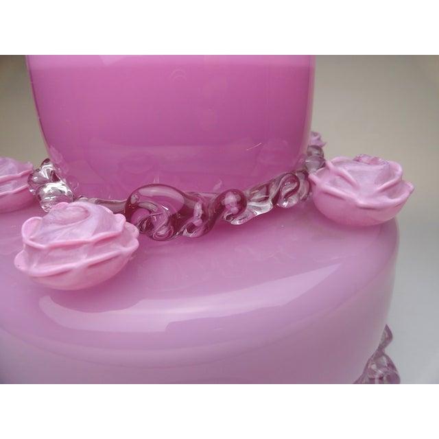 "Jason Minami's ""The Pink Cake"" Glass Statue - Image 3 of 3"