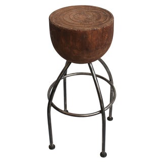 Round Stump Bar Stool
