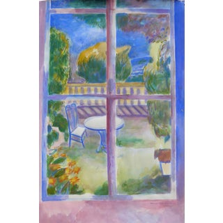 Window to the Terrace Plein Air Painting