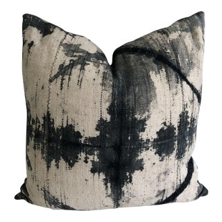 Mali Mud Cloth Tie-Dye and Linen Pillow