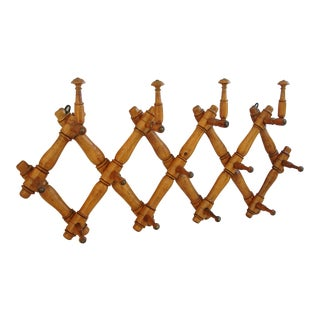 19th-C. French Expanding Hat & Coat Rack