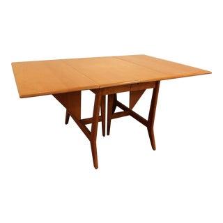 Heywood Wakefield Mid-Century Danish Drop-Leaf Dining Table