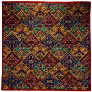 """Suzani Hand Knotted Area Rug - 9'3"""" X 9'3"""""""