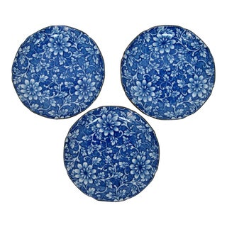 Takahashi Blue & White Plates - Set of 3