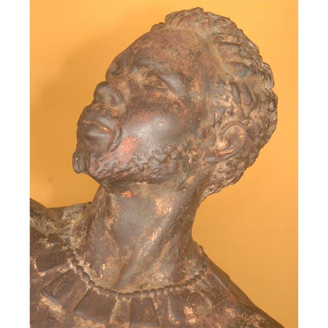 Life Size Exceptional and Rare Pair of Cast Iron Blackamoors - Image 3 of 9