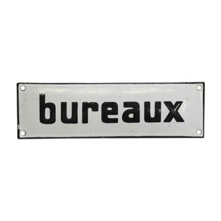 Vintage French Bureaux Wall Sign