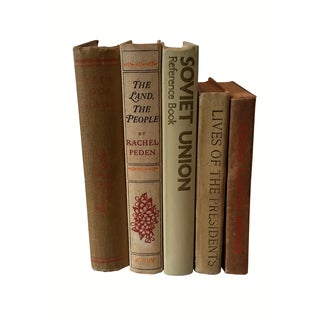 Decorative Vintage Books - Set of 5