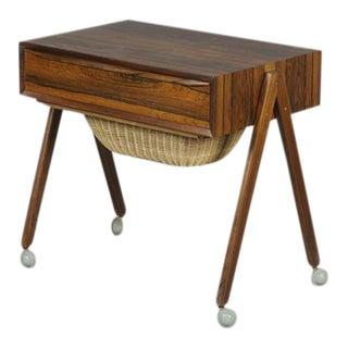 Danish Rosewood Sewing Table