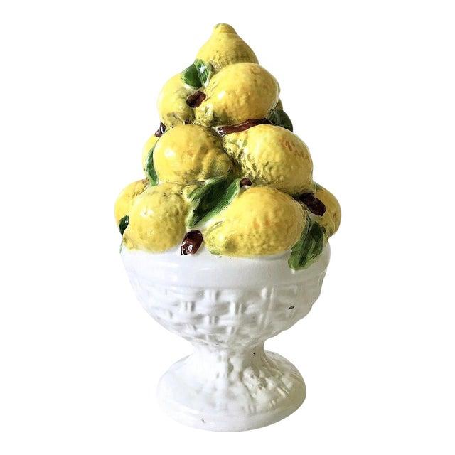 Mid Century Italian Majolica Lemon Topiary - Image 1 of 11