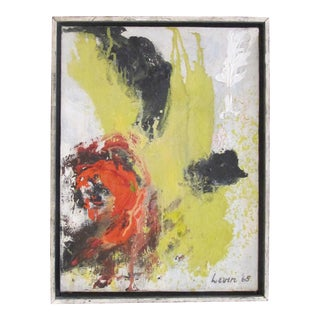 A bold American 1960's abstract oil on canvas; signed 'Levin '65'