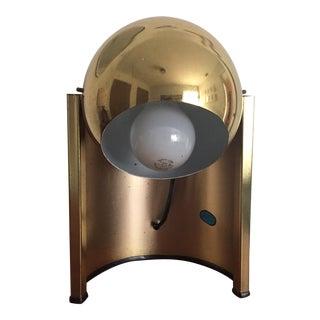 Mid-Century Swivel Brass Fisheye Desk Lamp