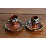 Image of Terra-Cotta Painted Candleholders Pair