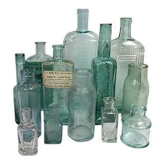 English Antique Bottles - Set of 13