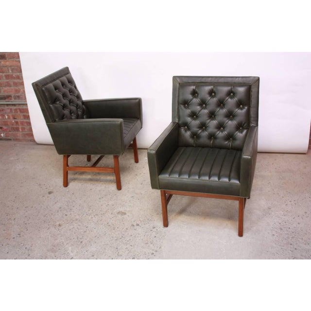 Pair of Milo Baughman for Thayer Coggin Walnut Armchairs - Image 4 of 9