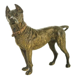 Original Bronze Pit Bull Sculpture