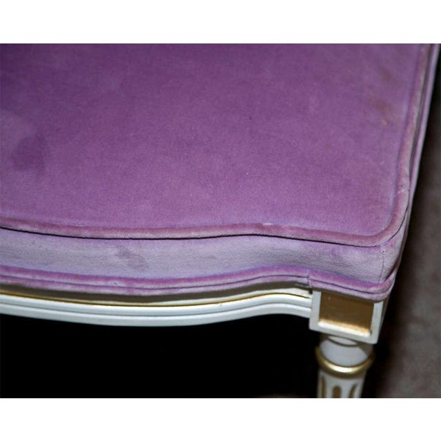 French Louis XVI Style Painted Foot Stools - Pair - Image 3 of 6