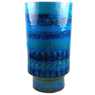 Aldo Londi Bitossi Rimini Blue Pottery Vase