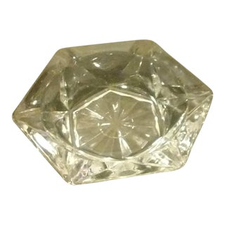Hexagon Shaped Crystal Ashtray