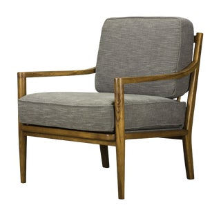 Spectra Home Mid-Century Modern Gray Accent Chair