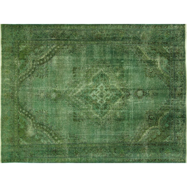 Overdyed Floral Hand Knotted Wool Rug - 9' x 12' - Image 1 of 10