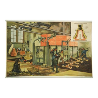 German Bell Foundry School Poster, 1960s