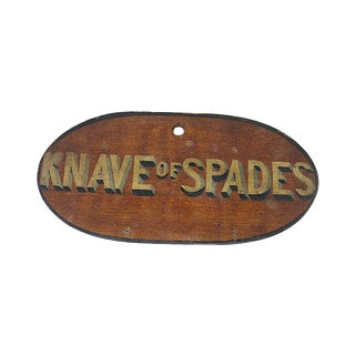 Antique Race Horse Stable Name Plaque