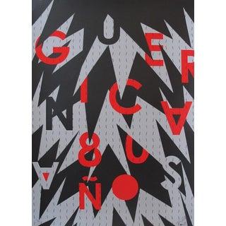 2017 Cuban Silkscreen, Guernica Typographic Poster