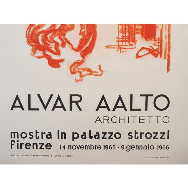 Original 1965 Alvar Aalto Exhibition Poster - Image 3 of 3