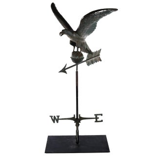 19th century antique full body Eagle Weathervane - Patinated copper c1890s